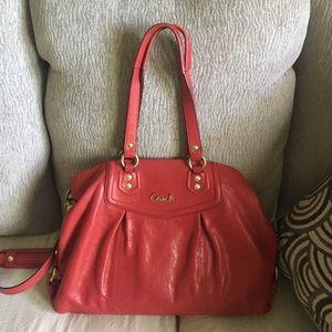Red Coach Shoulder Bag